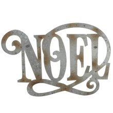 "Galvanized ""Noel"" Wall Decor."