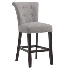 Selma 26'' Counter Stool, set of 2, in Grey with Coffee Legs