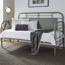 Twin Metal Day Bed - Green