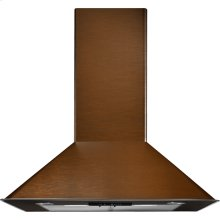 "Oiled Bronze Wall-Mount Canopy Hood, 30"", Oiled Bronze"