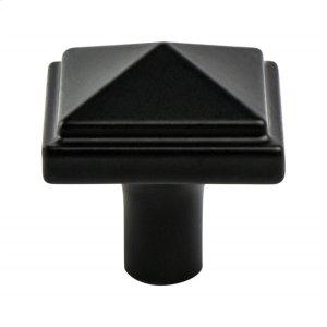 Rhapsody Black Pyramid Knob Product Image