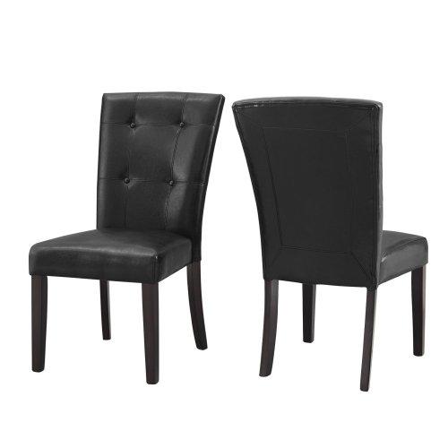 "Francis PU Side Chair 21""x29""x39""[1/2"" Memory foam]"