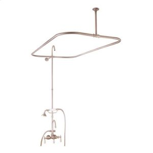 "Tub/Shower Converto Unit - 48"" Rod for Cast Iron Tub - Brushed Nickel Product Image"