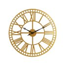 Brass Metal Roman Numeral Wall Clock Product Image