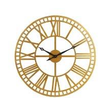 Brass Metal Roman Numeral Wall Clock