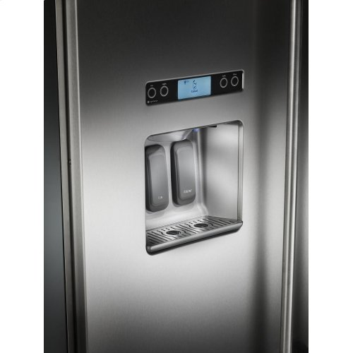 29.5 cu. ft 48-Inch Width Built-In Side by Side Refrigerator with PrintShield™ Finish - Stainless Steel