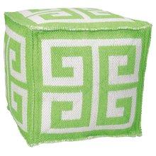 """Outdoor Pillow As555 Apple Green 16"""" X 16"""" X 16"""" Pouf"""