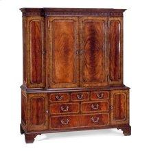 Large mahogany TV cabinet