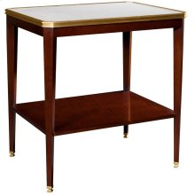 Austell Side Table With White Onyx Stone Top