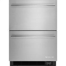 "24"" Refrigerator/Freezer Drawers, Euro-Style Stainless Handle"