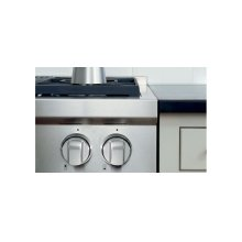 "48"" Gas Range Stainless Steel Knobs"