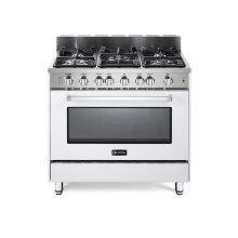"White 36"" Gas Range with Single Oven"