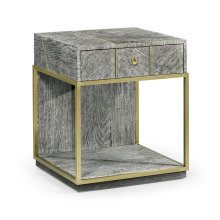 Casual Transitional Dark French Oak Bedside Table