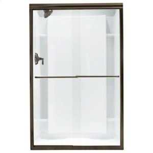 """Finesse™ Frameless Sliding Shower Door - Height 70-1/16"""", Max. Opening 47-5/8"""" - Deep Bronze with Smooth Clear Glass Texture Product Image"""
