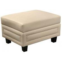 "Ferrara Leather Storage Ottoman - 32"" W x 25"" D x 19"" H"
