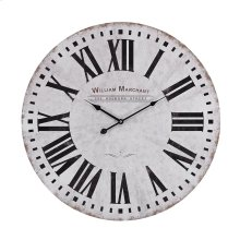 Aged-White Wall Clock
