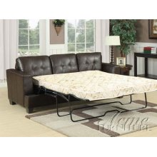 Diamond Brown Bonded Leather Sofa w/Queen Sleeper Set
