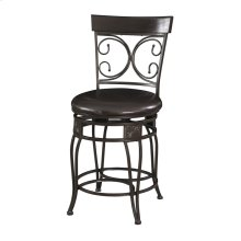 938-918  Big and Tall Back to Back Scroll Counter Stool