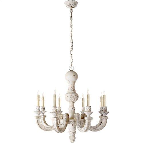 Visual Comfort AH5025BW Alexa Hampton Dexter 8 Light 30 inch Belgian White Chandelier Ceiling Light