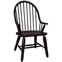 Bow Back Arm Chair - Black