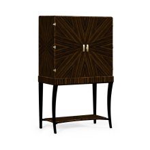 Art Deco Macassar Ebony High Lustre Drinks Cabinet