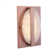 Recessed Illuminated Chime with Round Artisan Glass
