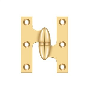 """2 1/2"""" x 2"""" Hinge - PVD Polished Brass Product Image"""