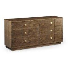 Berkley Walnut Dresser with Six Drawers