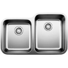 Blanco Stellar® 1-3/4 Reverse Bowl - Stainless Steel Refined Brushed Finish