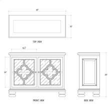 Dalston Short SideBoard w/ Glass