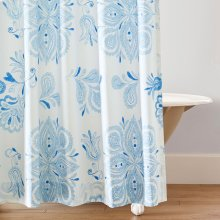 Emma Shower Curtain, BLUE, ONE