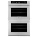 "30"" Heritage Double Wall Oven, Silver Stainless Steel with Flush Handle Product Image"