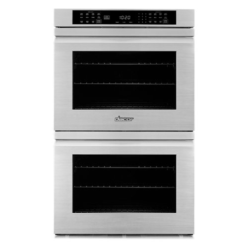 """30"""" Heritage Double Wall Oven, Silver Stainless Steel with Flush Handle"""