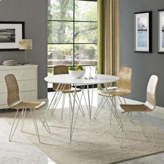 Satellite Circular Dining Table in White