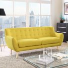 Remark Upholstered Fabric Sofa in Sunny Product Image