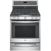 """GE Profile™ 30"""" Dual-Fuel Free-Standing Convection Range with Warming Drawer Product Image"""