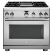"""Monogram 36"""" Dual-Fuel Professional Range with 4 Burners and Griddle (Natural Gas) - AVAILABLE EARLY 2020 Product Image"""