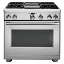 "Monogram 36"" Dual-Fuel Professional Range with 4 Burners and Griddle (Natural Gas) - AVAILABLE EARLY 2020"