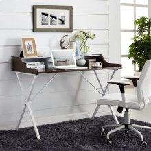 Bin Office Desk in Cherry