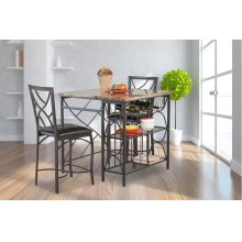 4402  Ayden Counter Kitchen Island 3 PC Set
