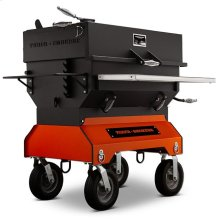 """Yoder Smokers 36"""" Adjustable Charcoal Grill on Competition Cart"""