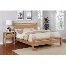 Vadstena Bed - Queen, Almond Finish