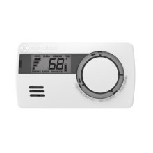 Carbon Monoxide Alarm with 10-Year Battery and Digital Temperature Display