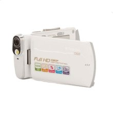 Polaroid 16-Megapixel Ultra Thin 1080p High Definition Camcorder iD820, White