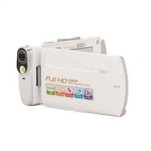 Polaroid 16-Megapixel Ultra Thin 1080p High Definition Camcorder iD820, White