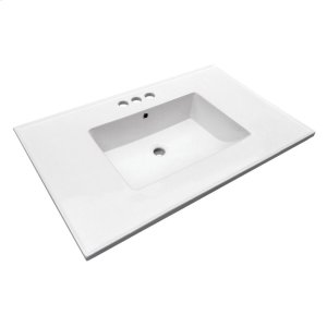 "Hartley 37"" Vanity Top - 4"" Centerset Product Image"