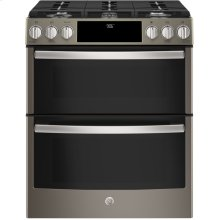 Slide-In Front Control Premium Slate Appearance, 6.7 cu. Ft. Self-Cleaning Convection Gas Range, Wifi Connectivity
