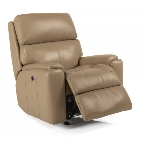 Rio Leather Power Rocking Recliner