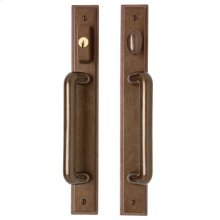 """Stepped Entry Sliding Door Set - 1 3/4"""" x 13"""" Silicon Bronze Brushed"""