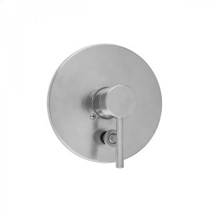 Antique Brass - Round Plate With Round Lever Trim For Pressure Balance Valve With Built-in Diverter (J-DIV-PBV) Product Image